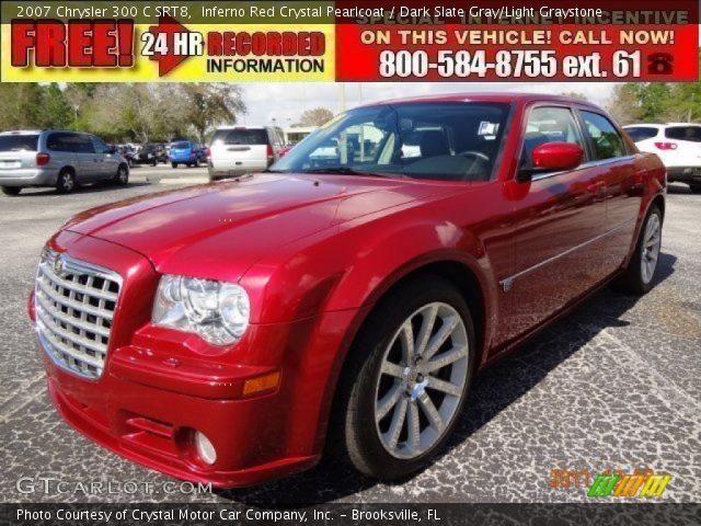 Inferno red crystal pearlcoat 2007 chrysler 300 c srt8 - Chrysler 300 red interior for sale ...