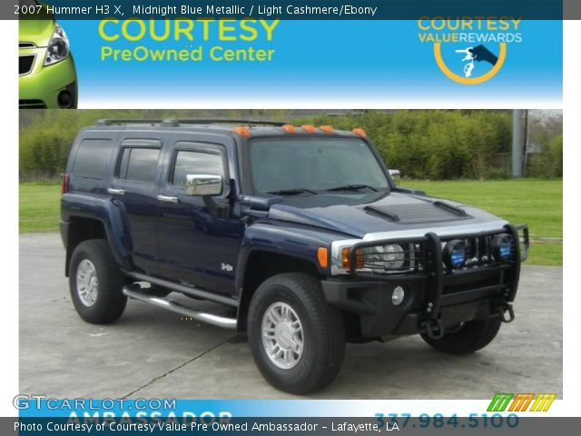 2007 Hummer H3 X in Midnight Blue Metallic