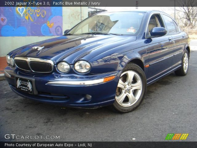pacific blue metallic 2002 jaguar x type 3 0 ivory interior vehicle archive. Black Bedroom Furniture Sets. Home Design Ideas