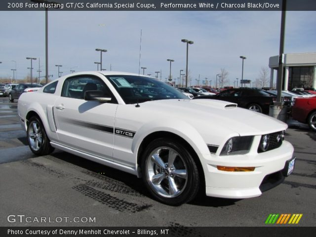 Performance White 2008 Ford Mustang Gt Cs California