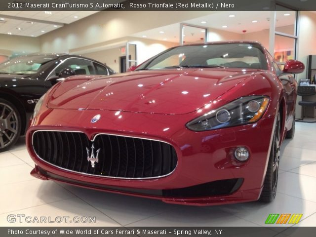 2012 Maserati GranTurismo S Automatic in Rosso Trionfale (Red Metallic)