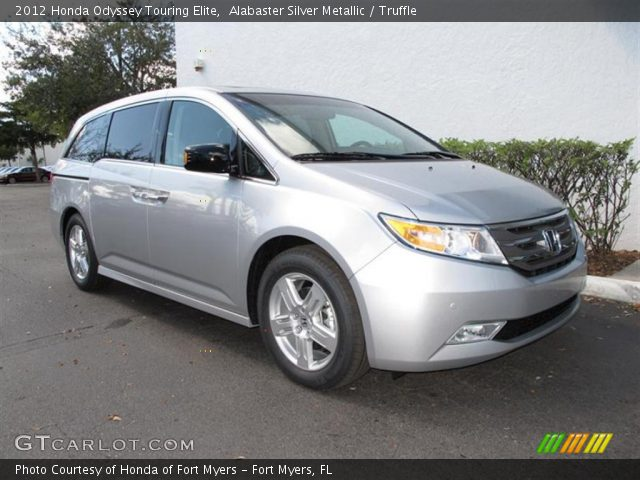 alabaster silver metallic 2012 honda odyssey touring elite truffle interior. Black Bedroom Furniture Sets. Home Design Ideas