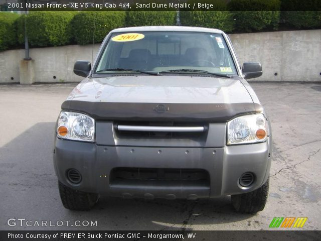 sand dune metallic 2001 nissan frontier xe v6 king cab 4x4 beige interior. Black Bedroom Furniture Sets. Home Design Ideas