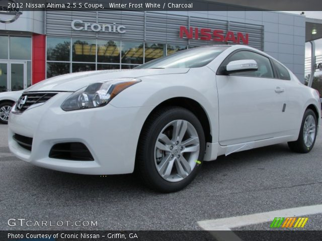 winter frost white 2012 nissan altima 2 5 s coupe charcoal interior vehicle. Black Bedroom Furniture Sets. Home Design Ideas