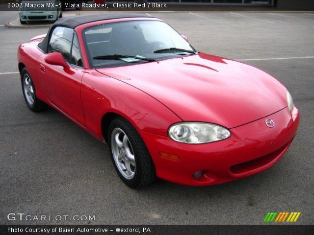 classic red 2002 mazda mx 5 miata roadster black interior vehicle archive. Black Bedroom Furniture Sets. Home Design Ideas