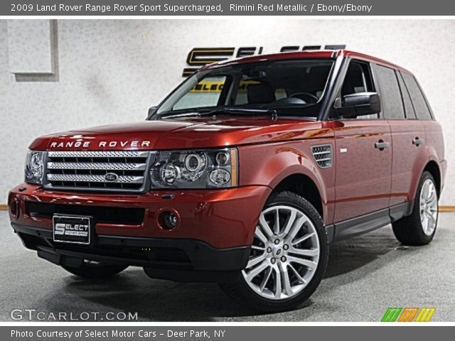 rimini red metallic 2009 land rover range rover sport supercharged ebony ebony interior. Black Bedroom Furniture Sets. Home Design Ideas