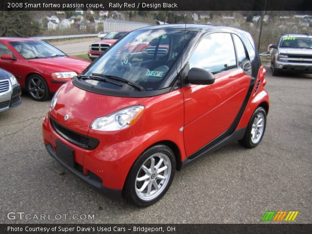 rally red 2008 smart fortwo passion coupe design black interior vehicle. Black Bedroom Furniture Sets. Home Design Ideas