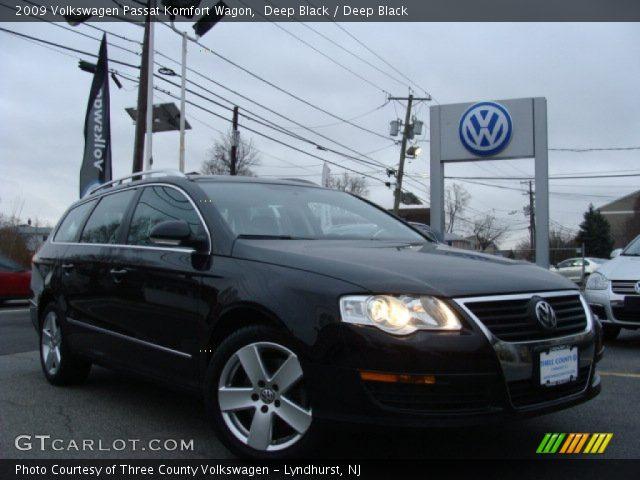 Deep Black 2009 Volkswagen Passat Komfort Wagon Deep Black Interior Vehicle
