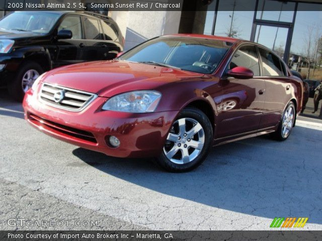 sonoma sunset red 2003 nissan altima 2 5 sl charcoal interior vehicle. Black Bedroom Furniture Sets. Home Design Ideas