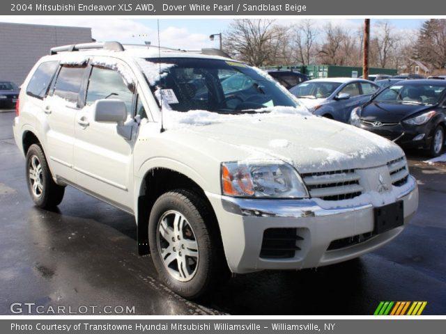Dover White Pearl 2004 Mitsubishi Endeavor Xls Awd Sandblast Beige Interior