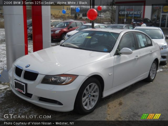 alpine white 2006 bmw 3 series 325xi sedan black interior vehicle archive. Black Bedroom Furniture Sets. Home Design Ideas