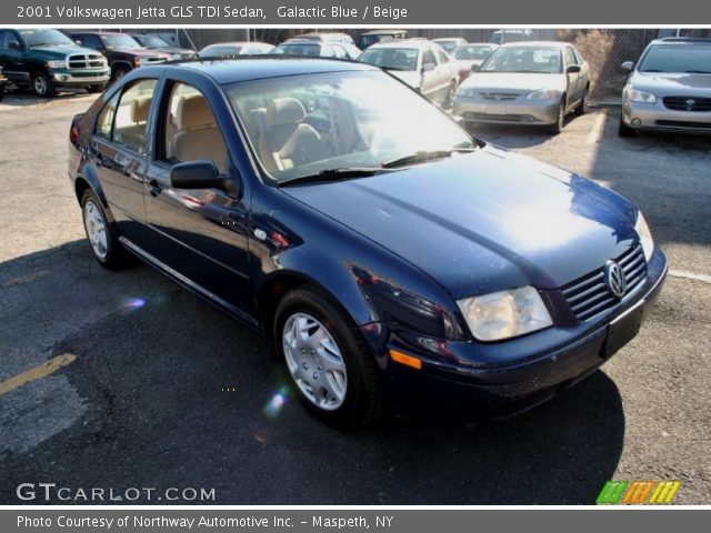 galactic blue 2001 volkswagen jetta gls tdi sedan beige interior vehicle. Black Bedroom Furniture Sets. Home Design Ideas