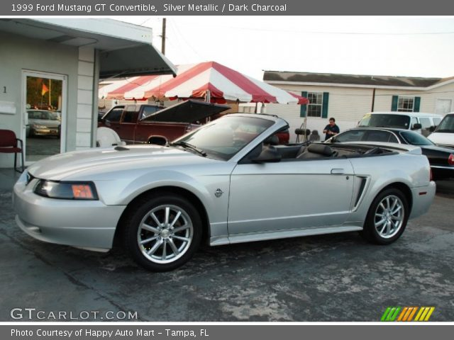 silver metallic 1999 ford mustang gt convertible dark. Black Bedroom Furniture Sets. Home Design Ideas