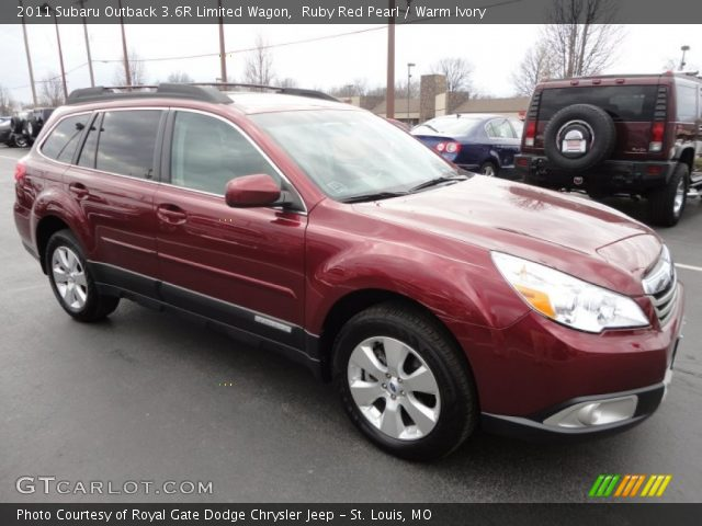 ruby red pearl 2011 subaru outback 3 6r limited wagon. Black Bedroom Furniture Sets. Home Design Ideas