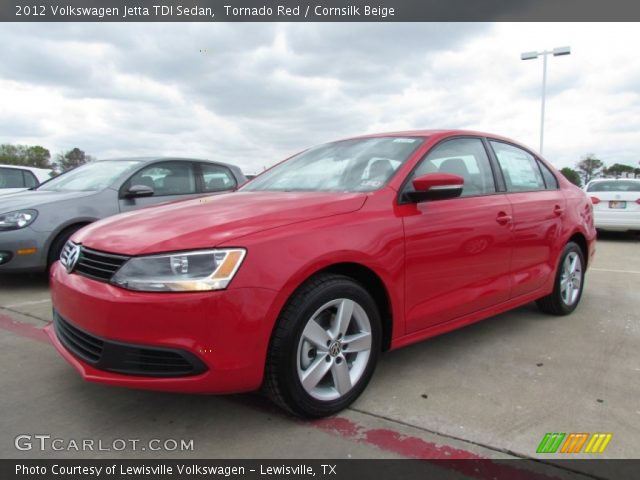 tornado red 2012 volkswagen jetta tdi sedan cornsilk. Black Bedroom Furniture Sets. Home Design Ideas