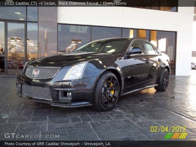 2012 Cadillac CTS -V Sedan in Black Diamond Tricoat