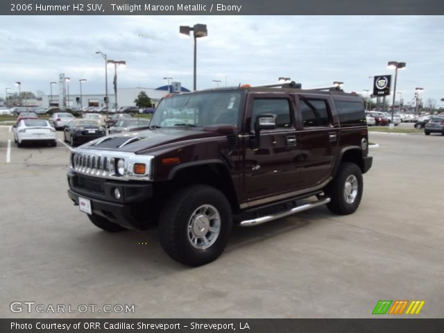 2006 Hummer H2 SUV in Twilight Maroon Metallic