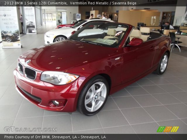 2012 BMW 1 Series 128i Convertible in Vermillion Red Metallic