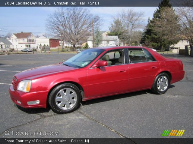 Crimson Red Pearl 2004 Cadillac Deville Dts Shale Interior Vehicle Archive