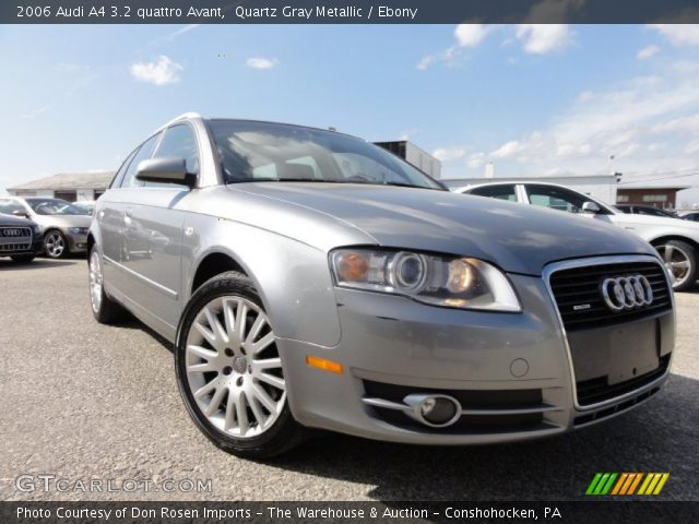 quartz gray metallic 2006 audi a4 3 2 quattro avant ebony interior vehicle. Black Bedroom Furniture Sets. Home Design Ideas
