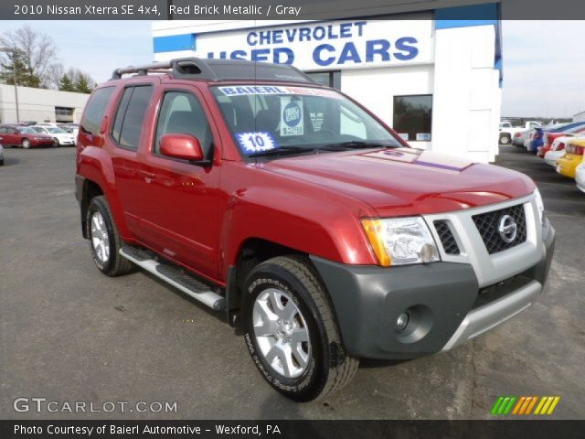 red brick metallic 2010 nissan xterra se 4x4 gray interior vehicle archive. Black Bedroom Furniture Sets. Home Design Ideas