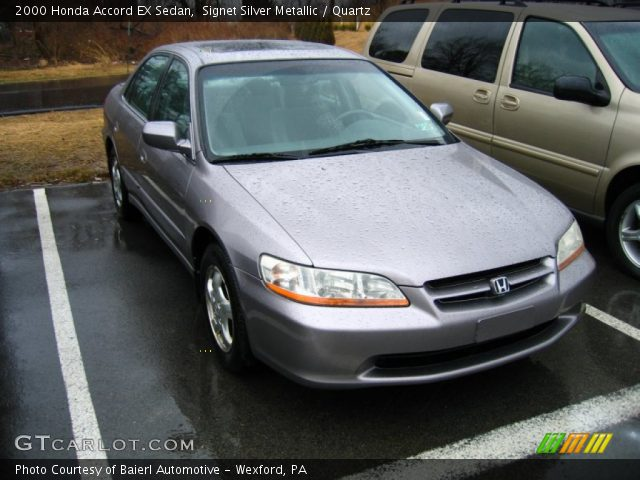 Signet Silver Metallic 2000 Honda Accord Ex Sedan