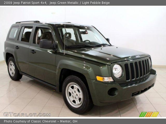 jeep green metallic 2009 jeep patriot sport 4x4 light. Black Bedroom Furniture Sets. Home Design Ideas