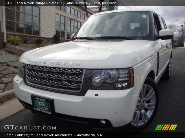 Alaska White 2010 Land Rover Range Rover Hse Sand Jet Black Interior