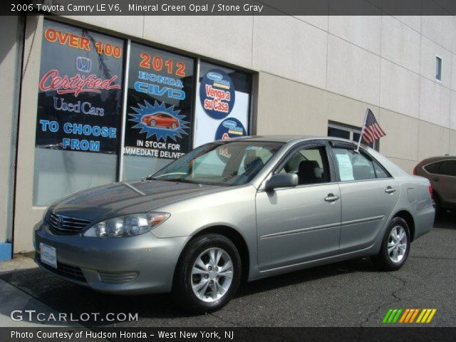 mineral green opal 2006 toyota camry le v6 stone gray interior vehicle. Black Bedroom Furniture Sets. Home Design Ideas