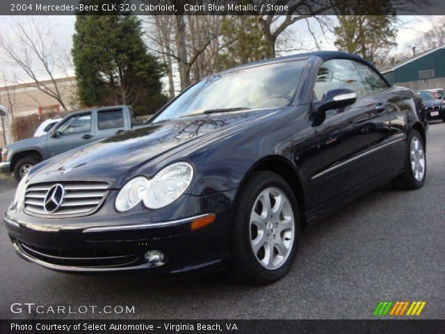 capri blue metallic 2004 mercedes benz clk 320 cabriolet. Black Bedroom Furniture Sets. Home Design Ideas