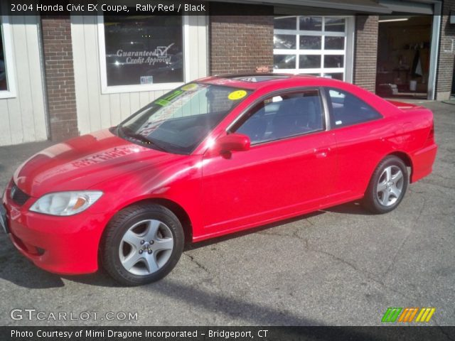 Rally Red 2004 Honda Civic Ex Coupe Black Interior Vehicle Archive 62098002