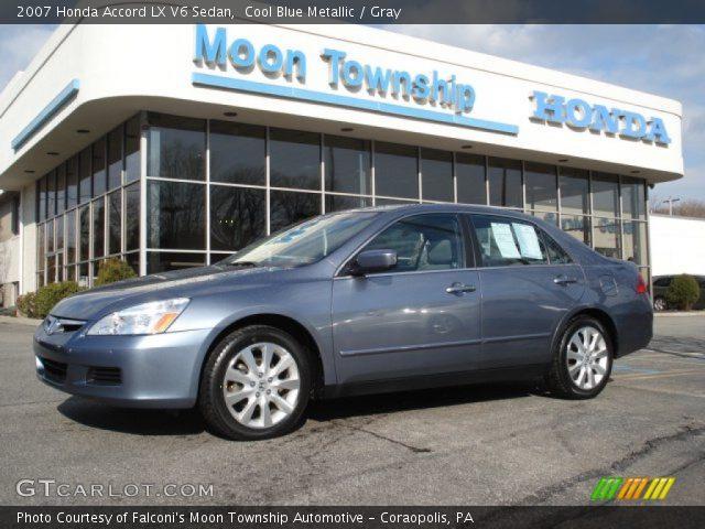 Cool blue metallic 2007 honda accord lx v6 sedan gray for 2007 honda accord lx sedan