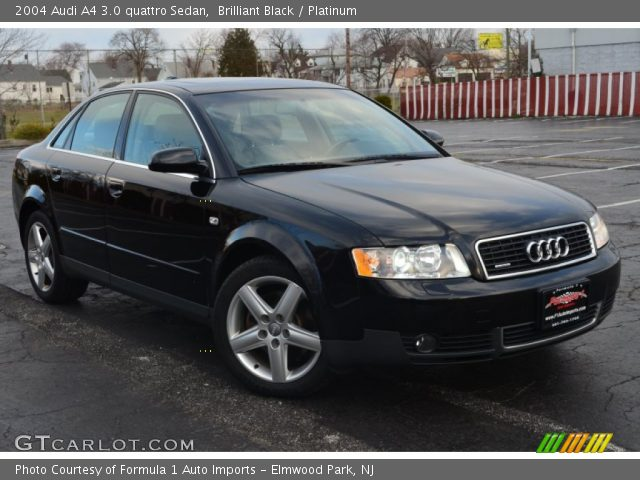 brilliant black 2004 audi a4 3 0 quattro sedan platinum interior vehicle. Black Bedroom Furniture Sets. Home Design Ideas