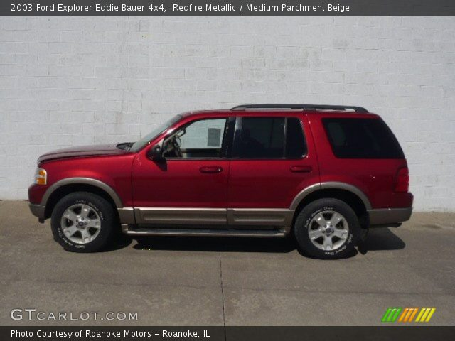 redfire metallic 2003 ford explorer eddie bauer 4x4 medium parchment beige interior. Black Bedroom Furniture Sets. Home Design Ideas