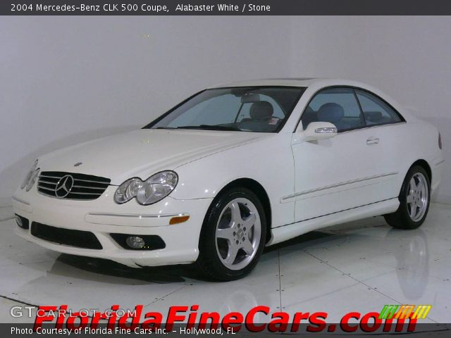 Alabaster white 2004 mercedes benz clk 500 coupe stone for 2004 mercedes benz clk 500