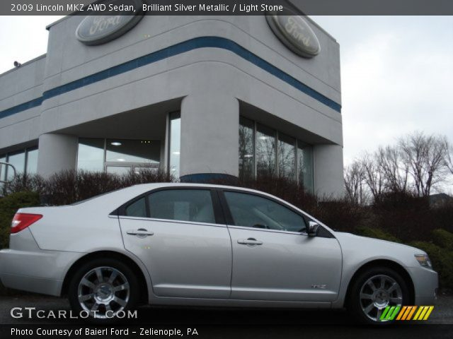 2009 Lincoln MKZ AWD Sedan in Brilliant Silver Metallic. Click to see ...
