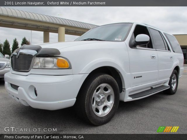 oxford white 2001 lincoln navigator medium parchment interior vehicle. Black Bedroom Furniture Sets. Home Design Ideas