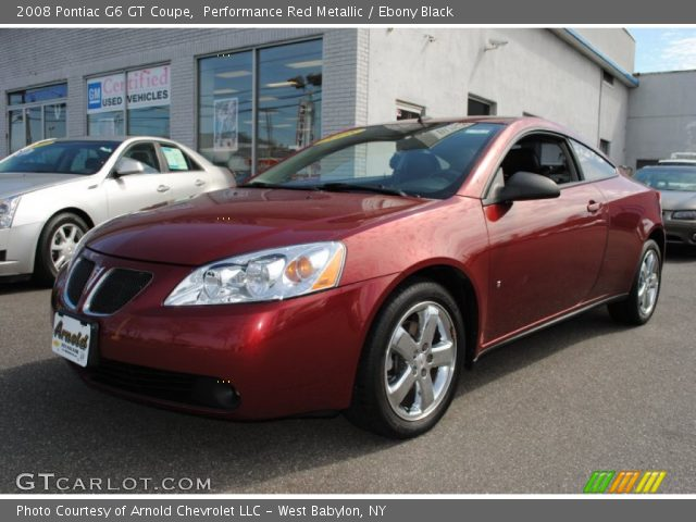 Performance Red Metallic 2008 Pontiac G6 Gt Coupe