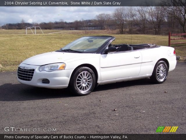 stone white 2004 chrysler sebring lx convertible dark. Black Bedroom Furniture Sets. Home Design Ideas