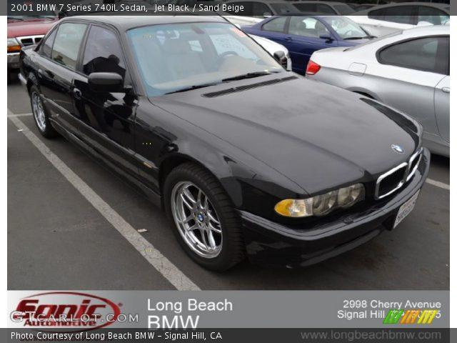 Jet Black - 2001 BMW 7 Series 740iL Sedan - Sand Beige