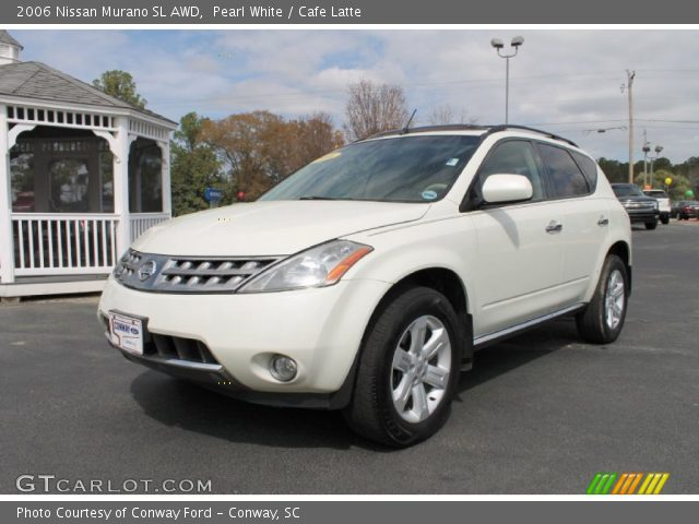 pearl white 2006 nissan murano sl awd cafe latte interior vehicle archive. Black Bedroom Furniture Sets. Home Design Ideas