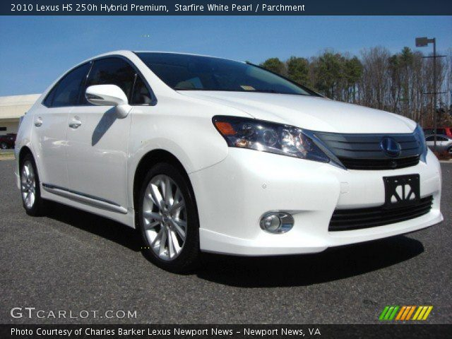 starfire white pearl 2010 lexus hs 250h hybrid premium parchment interior. Black Bedroom Furniture Sets. Home Design Ideas