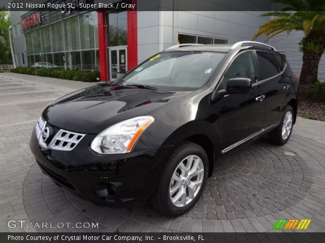 Super black 2012 nissan rogue sl gray interior - 2012 nissan rogue exterior colors ...