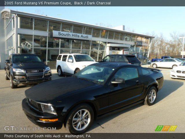 black 2005 ford mustang v6 premium coupe dark charcoal interior vehicle. Black Bedroom Furniture Sets. Home Design Ideas