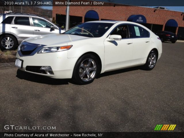 white diamond pearl 2010 acura tl 3 7 sh awd ebony. Black Bedroom Furniture Sets. Home Design Ideas