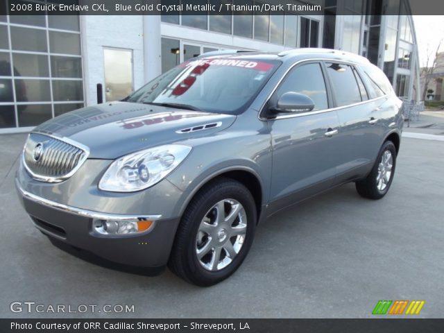 Blue Gold Crystal Metallic 2008 Buick Enclave Cxl Titanium Dark Titanium Interior Gtcarlot