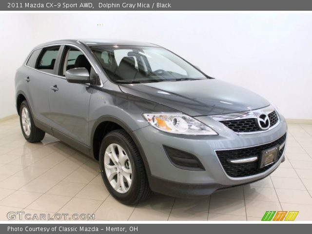 dolphin gray mica 2011 mazda cx 9 sport awd black. Black Bedroom Furniture Sets. Home Design Ideas