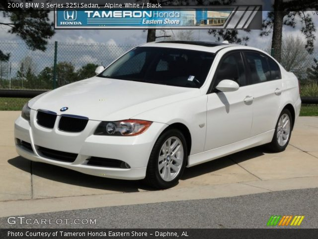 alpine white 2006 bmw 3 series 325i sedan black. Black Bedroom Furniture Sets. Home Design Ideas