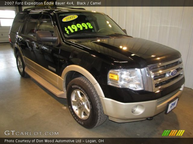 black 2007 ford expedition eddie bauer 4x4 camel interior vehicle archive. Black Bedroom Furniture Sets. Home Design Ideas