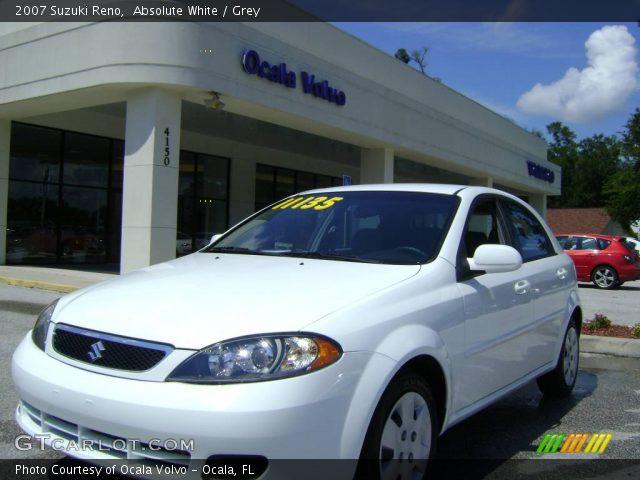Absolute White - 2007 Suzuki Reno - Grey Interior | GTCarLot.com ...